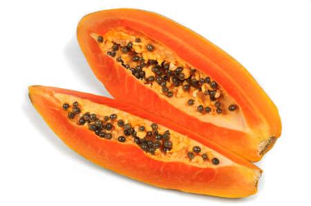 cutaneous: slice papaya  isolated on the white background