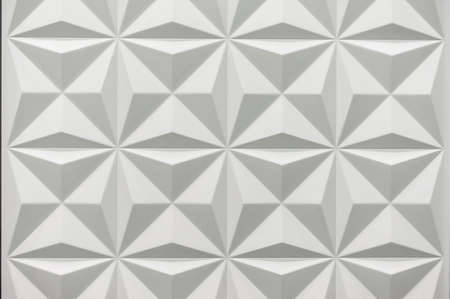 ceramic tiles: White geometric 3d texture pattern  horizontal photo Stock Photo