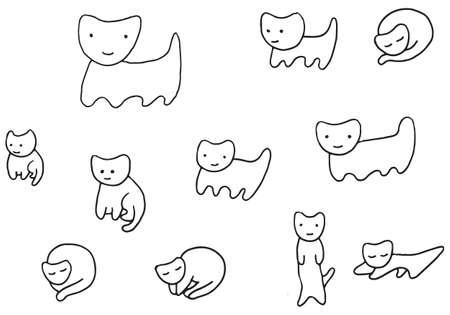 Páginas Para Colorear Para Niños Y Adultos. (Gato Rayado ...