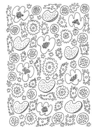Rbol De Granada - Ilustración De Los Niños. Contorno Doodle Arte ...