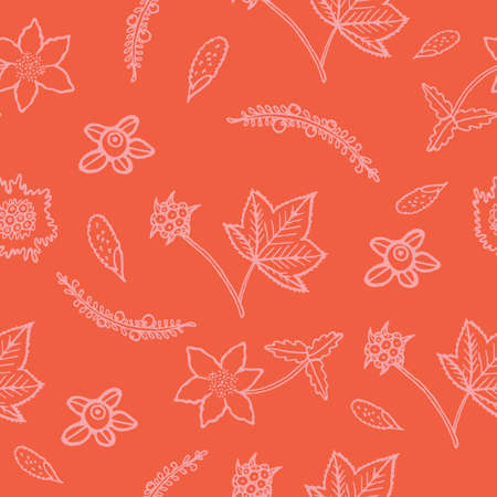 Hand drawn seamless pattern with berries.