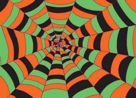 Spider web background, Doodle sketch vector art. Cartoon colorful orange texture for halloween.