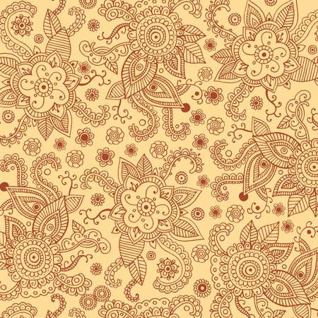 Henna mehndi pattern background Stock Vector - 98513884