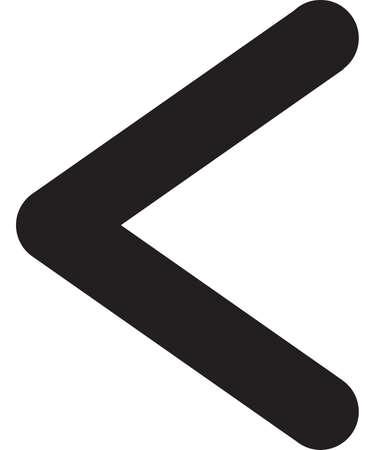 Ancient scandinavic rune kanu. Viking futhark alphabet. Flat black line icon. Graphic element. Vector illustration.