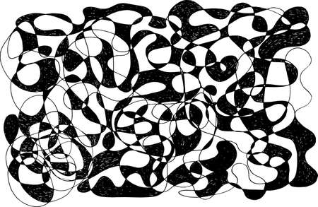 Sketch doodle pattern. Black and white texture. Abstract scratch simple background. Vector illustration.