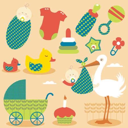 Cute Baby Boys Icons Stock Vector - 5836509