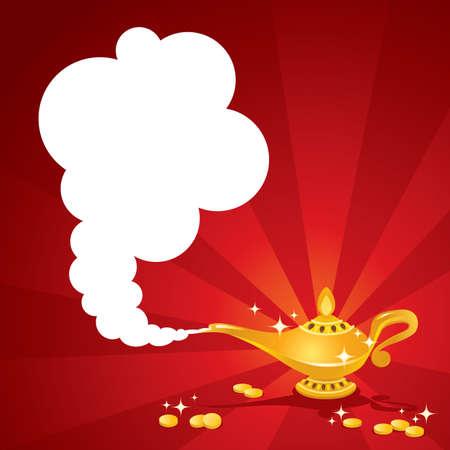 Lámpara mágica  Ilustración de vector