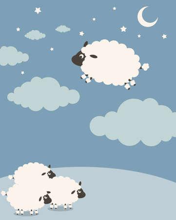 oveja: Dulces sue�os  Vectores