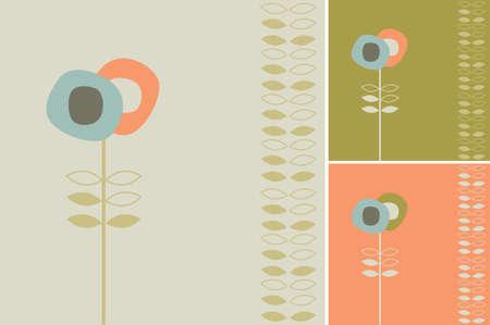 back yard: Flor abstracto Vectores