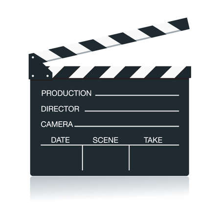 movie director: Action board Illustration