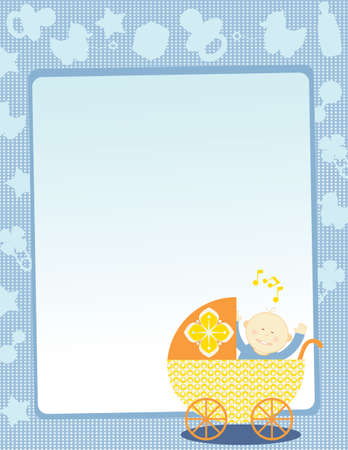 baby goods: Baby Background Illustration
