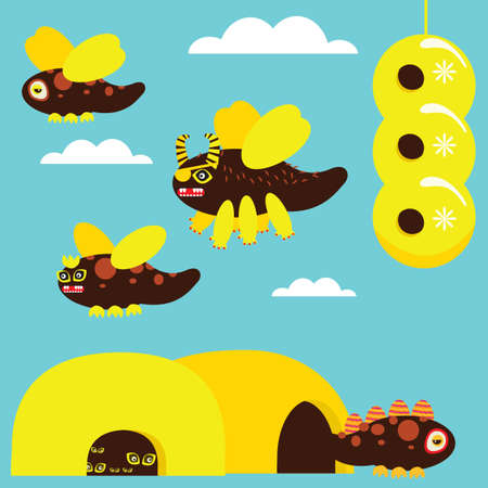 Bee Set Stock Vector - 5860001