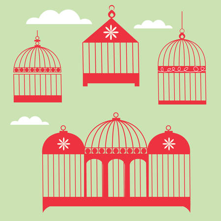 Birdcage Set Stock Vector - 5859997