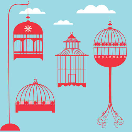 birdhouse: Birdcage Set