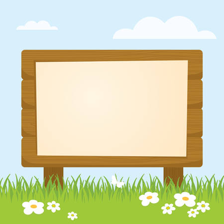 wood sign: Board Illustration