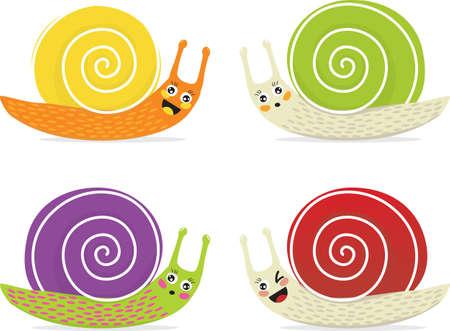 Cartoon snails Stock Vector - 5860012