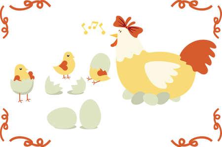 Chicken family Stock Vector - 5859990