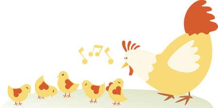 Chicken family Stock Vector - 5859996