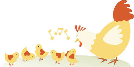aves de corral: La familia de pollo