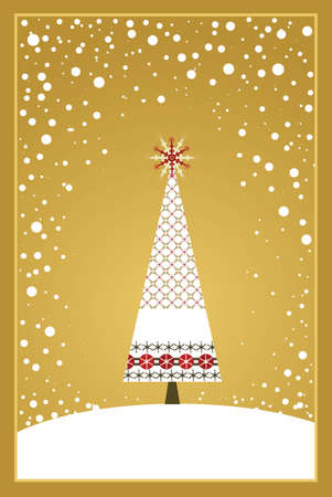 Christmas Card Series - Gold Stock Vector - 5860026