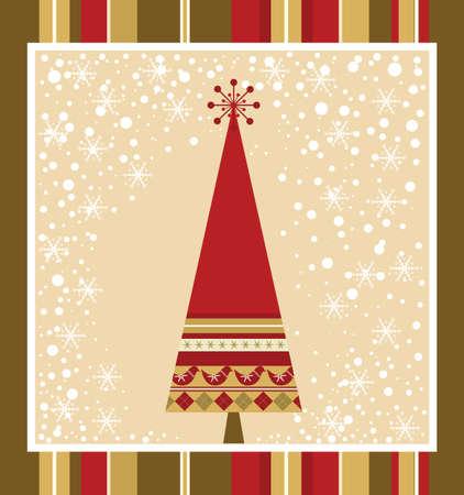 Tarjeta de Navidad de la serie - Red Vectores