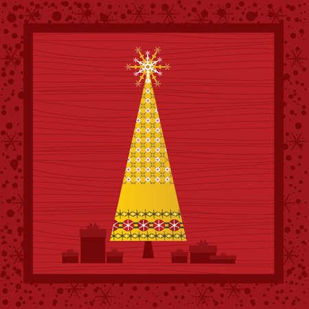Chrismas Card Series - Red Stock Vector - 5860025