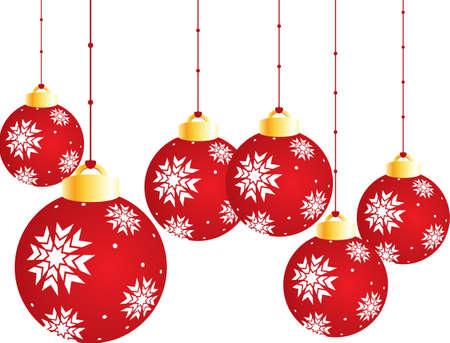 dull: Bolas de Navidad  Vectores
