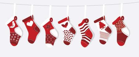 Christmas Stocking  Vector Illustratie
