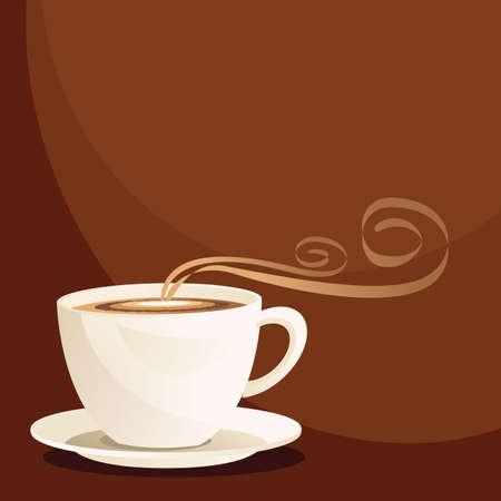 Copa de caf� Vectores