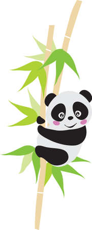 bamboo leaves: Panda  Illustration