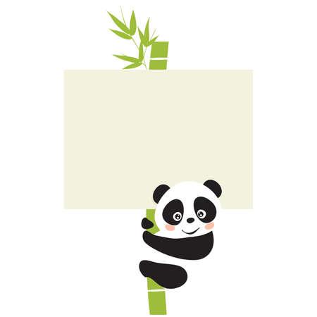 panda bear: Panda  Illustration