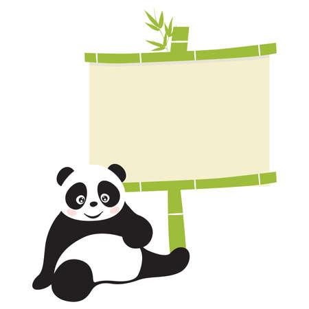 endangered species: Panda  Illustration