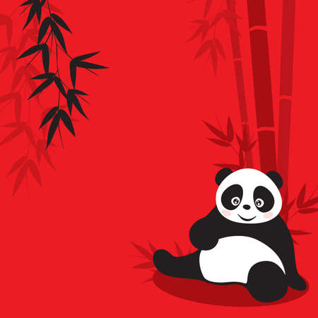 asian gardening: Panda and Bamboo