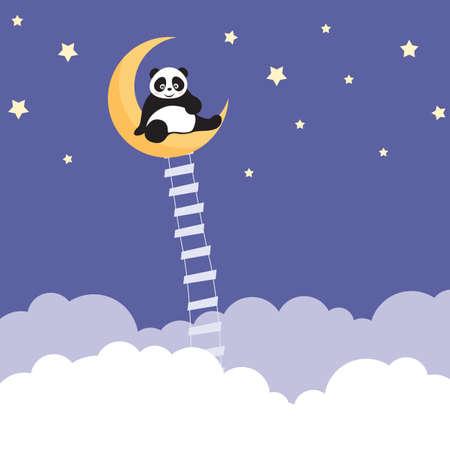 endangered species: Panda Dreams Illustration