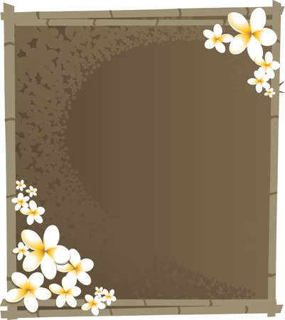 Bamboo and Flower Stock Vector - 5868262