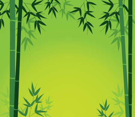 Bamboo Card Stock Vector - 5868258