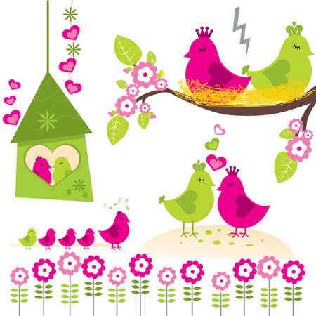Bird Family Stock Vector - 5874467