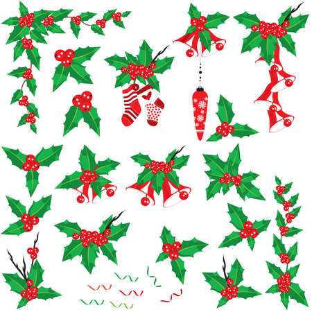 Christmas holly set Stock Vector - 5937620