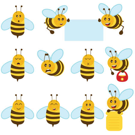 abejas: Abeja Vectores