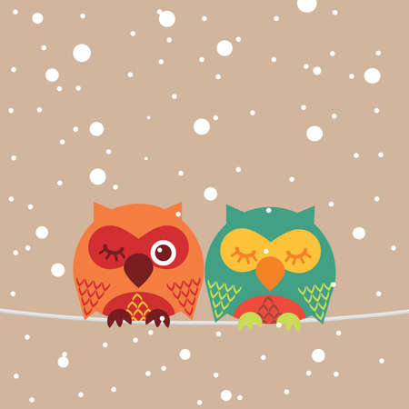 eurasian: Owl Illustration