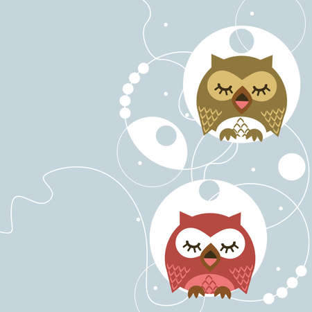 vector message: Owl Illustration