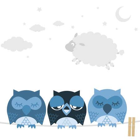 bad temper: Owl Illustration