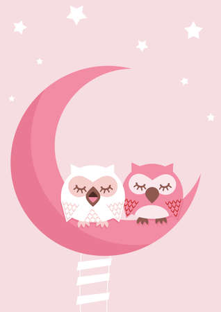 day dream: Owl  Illustration