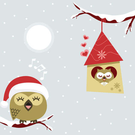 christmas day: Bird Illustration