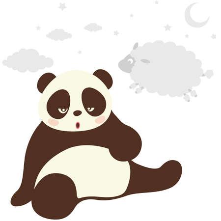 Panda Vektorové ilustrace