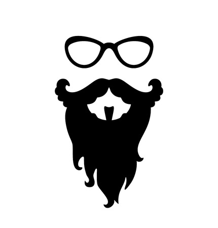 Fashion silhouette hipster style  EPS 8   jpg Vector