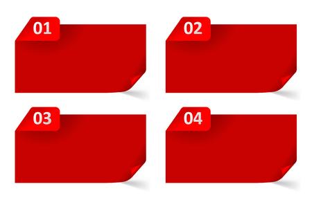 Set of Vector Paper Progress backgrounds  EPS 8   jpg Vector