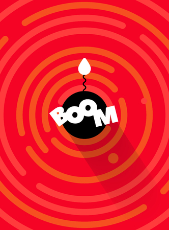 cartoon bomb: Radial comics style cartoon banner. The whole circles are hidden under the mask. Good for assets, animation