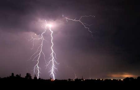 rayo electrico: rayo  Foto de archivo