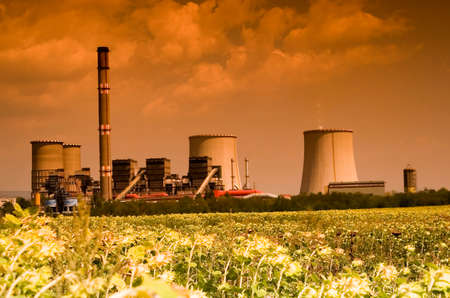 catalytic: Power station in the rural Stock Photo